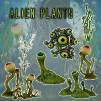 Alien Plants by zememz