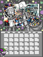 March Calendar Entry by silverfirelight