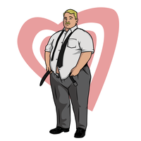 A Self Portrait, My Character on Archer on FX by MissleMan