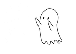 little ghost friend by LuciatheSharkxx