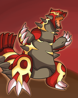 Omega Groudon (SPEED PAINT INCLUDED) by thegamingdrawer