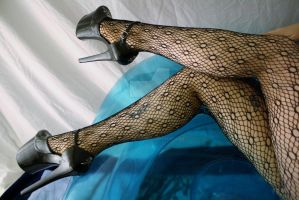 Fishnet and Heels by KarmicCircle