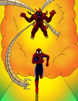 Spiderman vs Monster Ock by streetgals9000