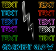 Gradient Glow styles by Wormchow