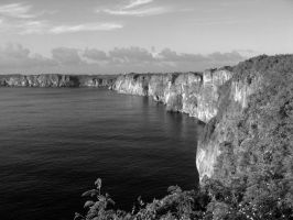 The Cliffs in B+W by Sweetlittlejenny