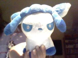 (Shiny) Glaceon plush by SunnyPopFeline