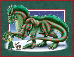 Decembra the Christmas Dragon by DragonosX