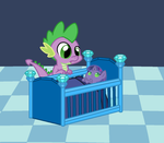 Spike Becomes an Uncle by StarryOak