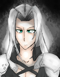 Another Drawing of Sephiroth by PlasmaZoroark