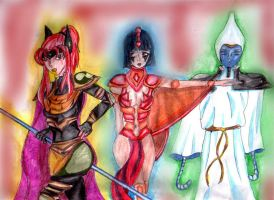 My Oc of the Egyptian gods by hellmira