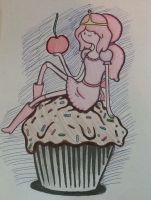 PB sitting on a cupcake by musicaladventurer