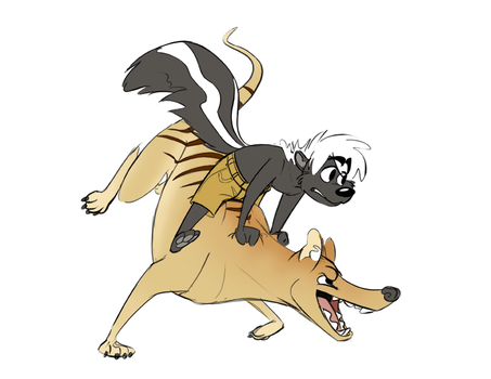 Unusual Ride (commission) by CoyoteEsquire