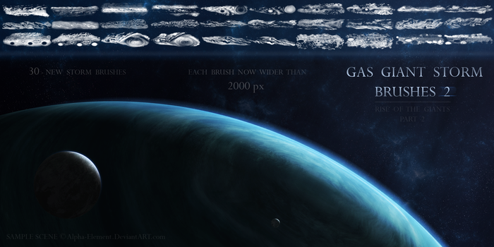 Gas Giant Storm Brushes 2 by Alpha-Element