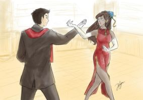 Makorra: The Fire Nation Dance by peachringring