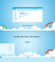 Mac Blue Sky Theme Windows 7 by cu88
