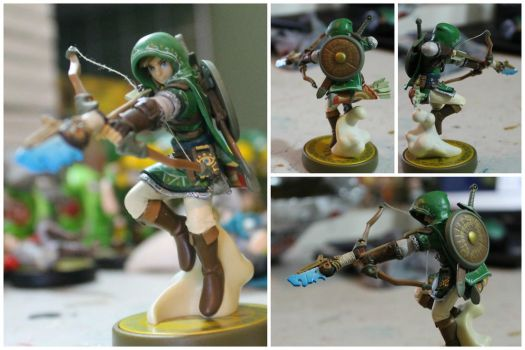 Custom Green Hylian Tunic BOTW Link Amiibo by PixelCollie