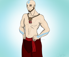 A for Avatar Aang by RisenEternalFlame