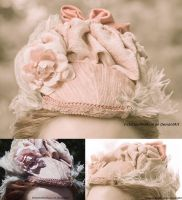 Dusty pink Victorian inspired hat by VictorianRedRose
