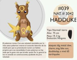 Pokemon Oryu 039 Hadduke by shinyscyther