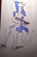 Blue sergal by whitewolf0272