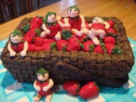 Strawberry basket fairies by Shoshannah84