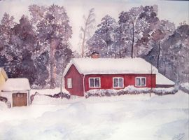 red house by cristineny