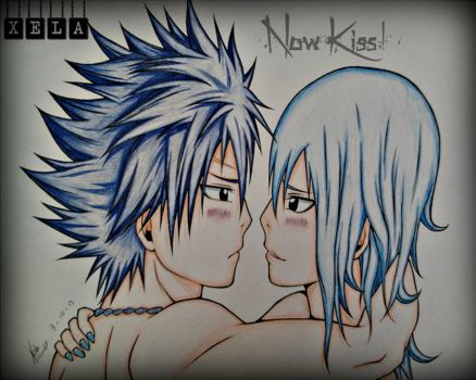 Gray and Juvia.. Now Kiss! by Xela-scarlet