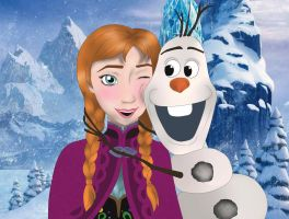 Anna and Olaf by DianAxColibrY