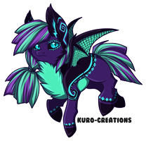 OC: Bat Pony by Kuro-Creations