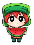 kyle and a watermelon by SouthParkFantasy