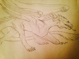 Dragon concept by October-Moon337