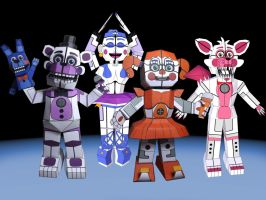 FNAF Sister Location Papercrafts - WIP by Adogopaper