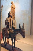 Wooden Effigy Of Christ On A Donkey, V And A  2012 by aegiandyad