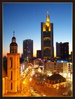 Frankfurt in the evening II by kine80