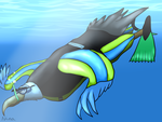 Scuba Eagle (Art Trade for KodyBoy555) by GreenWingSpino32