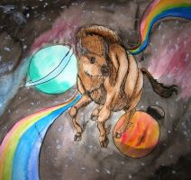 Space Bison by AnnieHoppe
