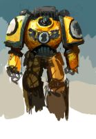 Colourstudy/speedpaint Imperial Fist by DavidSondered