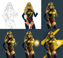 Ms. Marvel - Process by Almayer