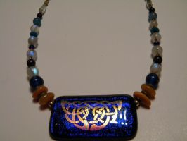 Necklace with Sara Creekmore Glass Center by D905