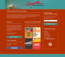 Coyotes Basic one page Website by novastunna
