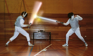 Light Saber Fencing by kingpin1055