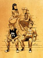 Archie and the gang by Amancay Nahuelpan by AshcanAllstars