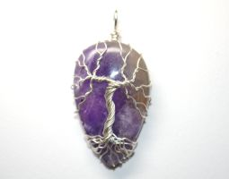 Amethyst Wire Wrapped Tree of Life Pendant by LoneWolfjewelry
