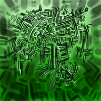 Green Abstract 3/23/13 by Labyrinther
