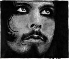 Ville Valo HIM drawing No 3 by EwaBlackWidowVsHare
