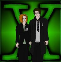 The X-Files: Anime-Style Mulder and Scully by XxKewonaWolfxX