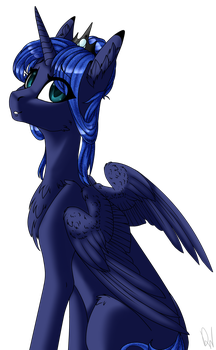 [COLLAB] Princess Luna by DrawItWriteIt
