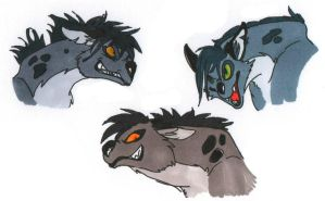 The Hyena Trio by wolffuchs