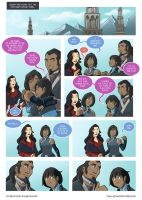 Asami loves Korra: Visiting the parents by JakeRichmond