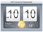HTC Clock for Rainmeter by nardoxic